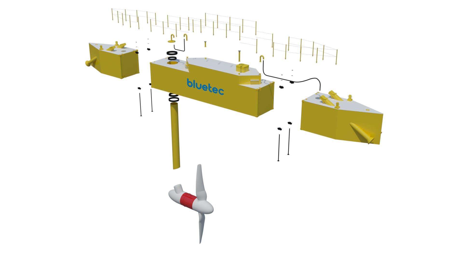 Partners tekenen overeenkomst voor de installatie van een drijvend platform voor getijdenenergie