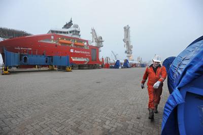 First offshore vessel in Heysehaven