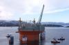 Goliat FPSO floats off transport vessel