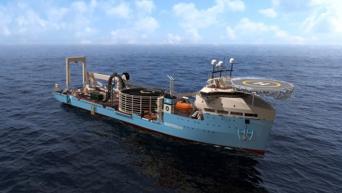 DeepOcean  - new cable lay vessel - illustration